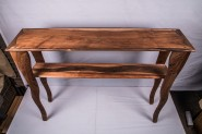 Koa, walnut and black acaia entry way tablel